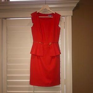 Addy Peplum Zipper Dress